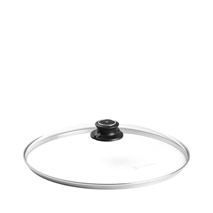 Swiss Diamond Round Tempered Glass Lid w/ Vented Knob 32cm