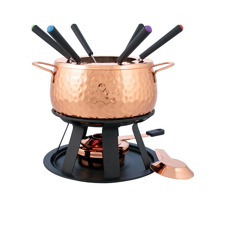 Swissmar Biel Fondue Set 11pc Copper