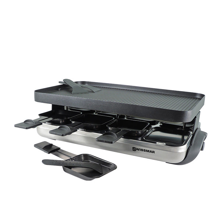 Swissmar Valais 8 Person Raclette Party Grill Stainless Steel