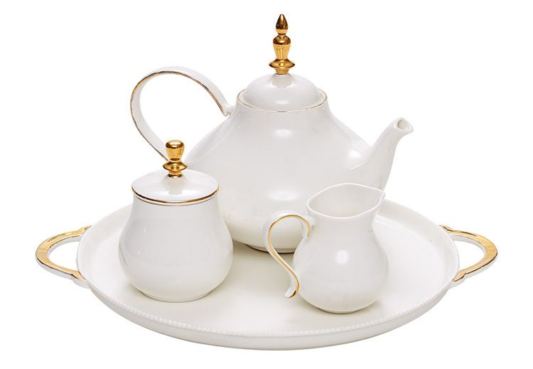 Matching tea set
