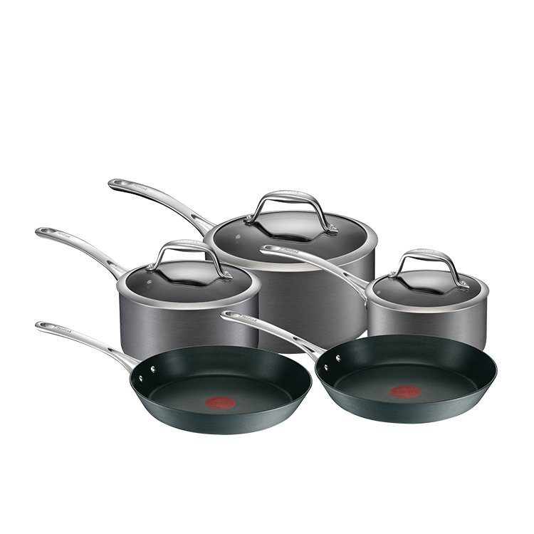 tefal gourmet anodised induction 5pc cookware set fast shipping. Black Bedroom Furniture Sets. Home Design Ideas