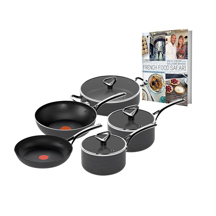 Tefal Reserve 5pc Cookware Set  w/ Bonus French Safari Cookbook