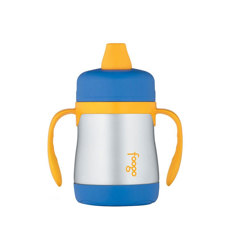 Thermos Foogo Stainless Steel Vacuum Insulated Sippy Cup Blue 210ml