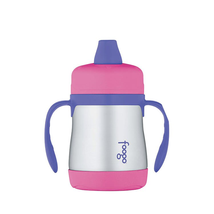 Thermos Foogo Stainless Steel Vacuum Insulated Sippy Cup Pink 210ml
