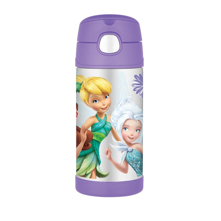 Thermos Funtainer Stainless Steel Vacuum Insulated Drink Bottle 355ml Disney Fairies