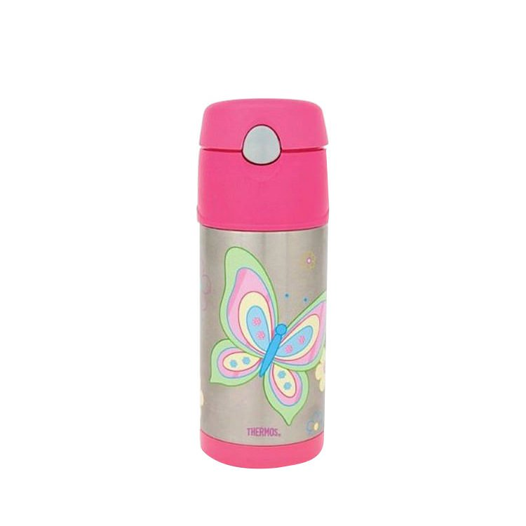 Thermos Funtainer S/S Vacuum Insulated Drink Bottle 355ml Pink