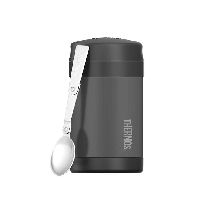 Thermos Funtainer Insulated Food Jar w/ Spoon 470ml Charcoal