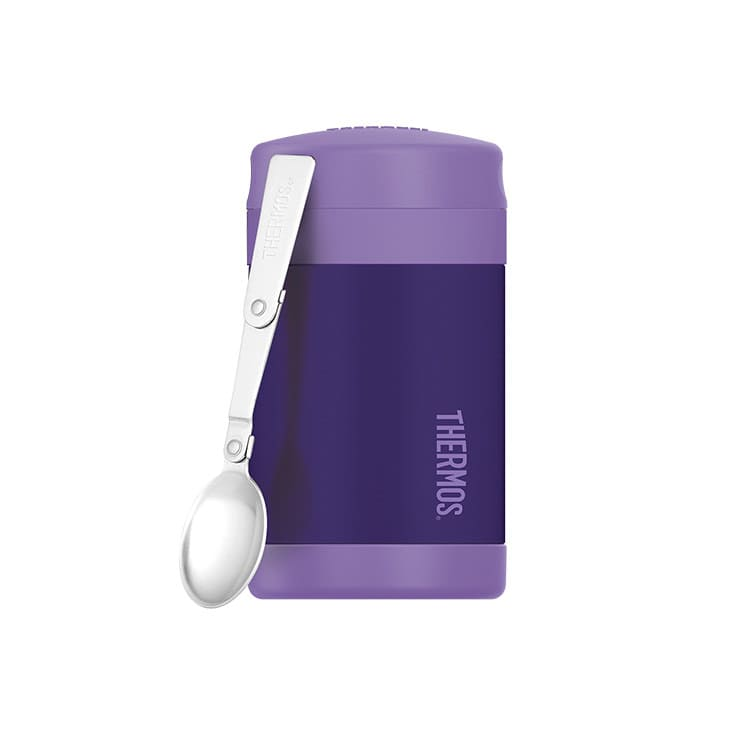 Thermos Funtainer Insulated Food Jar w/ Spoon 470ml Purple