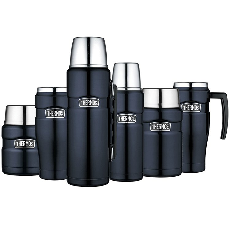 Thermos Stainless King Insulated Flask 1.2L Midnight Blue