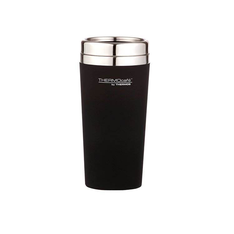 Thermos THERMOcafe Soft Touch Travel Mug 420ml Matte Black