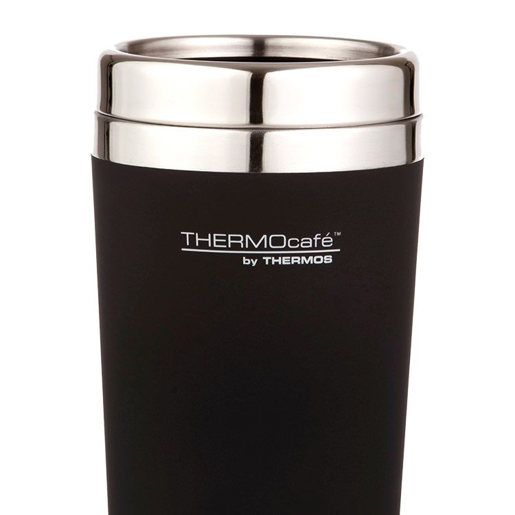 Thermos THERMOcafe Soft Touch Travel Mug 420ml Matte Black image #2