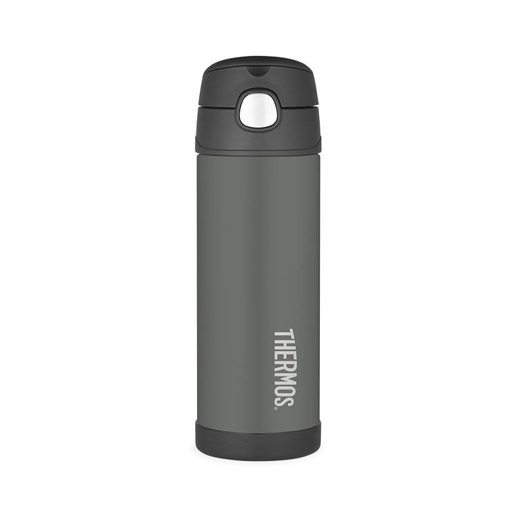 Thermos FUNtainer Stainless Steel Vacuum Insulated Drink Bottle 470ml Charcoal