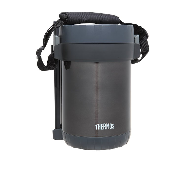 Thermos Insulated Food Storage w/ 3 Containers & Chopsticks 1.3L