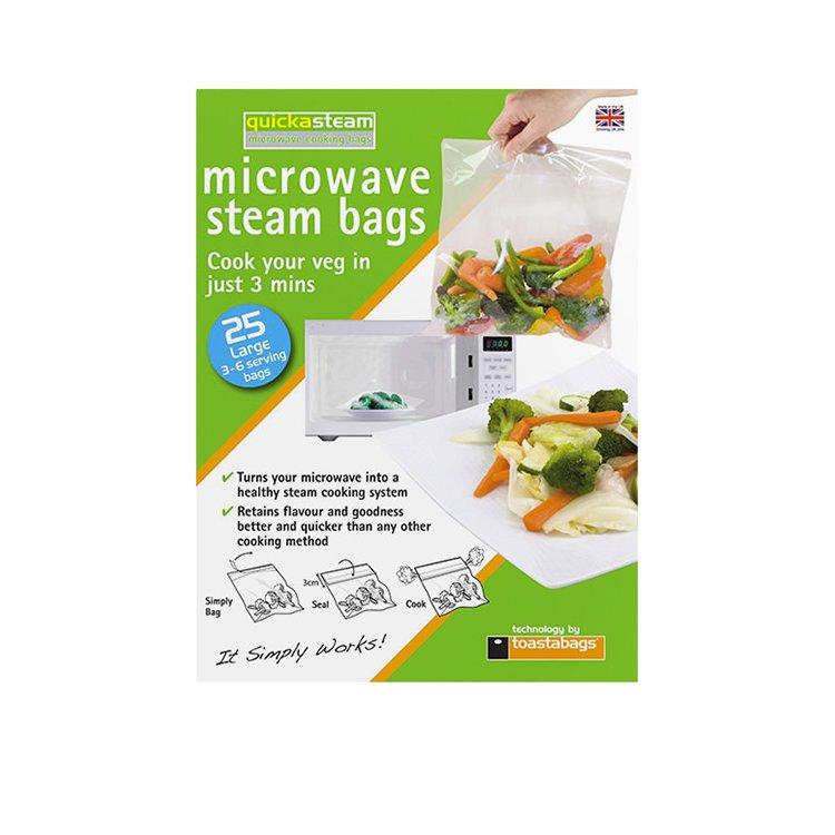 D.Line Toastabags Quickasteam Microwave Steam Cooking Bags Medium 30pk