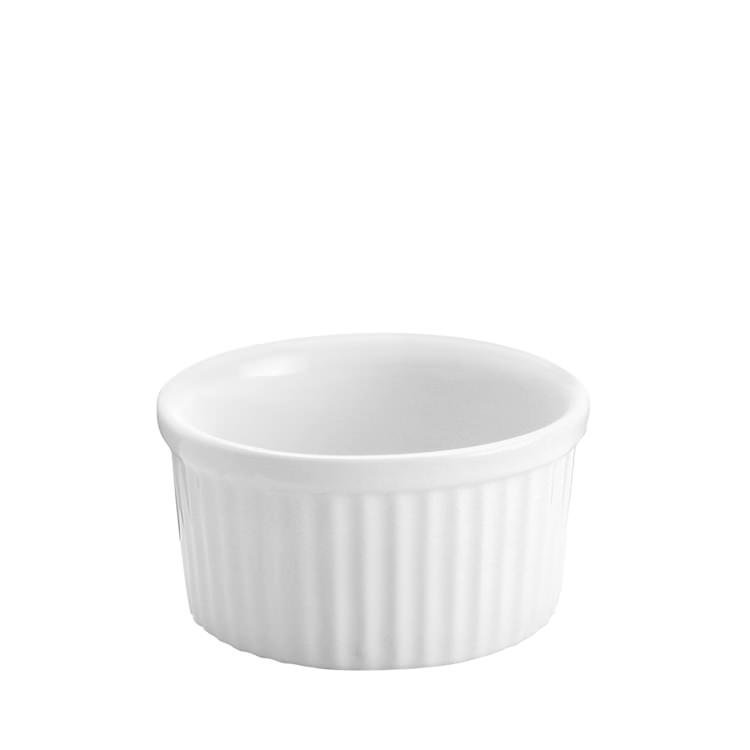 Tomkin Vitroceram Souffle Dish White 100mm