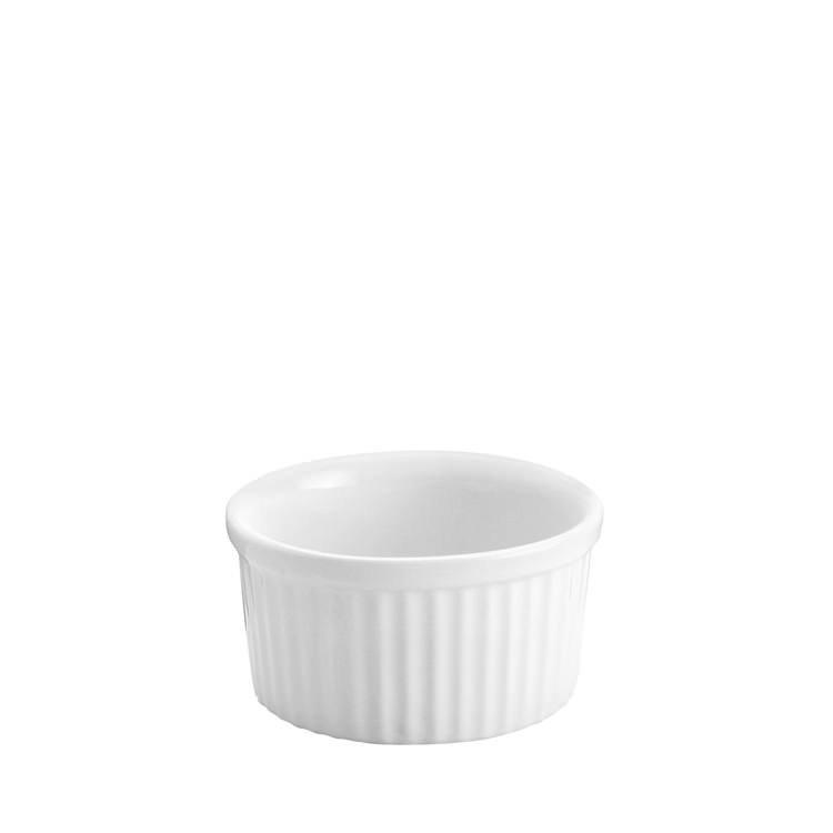 Tomkin Vitroceram Souffle Dish White 75mm