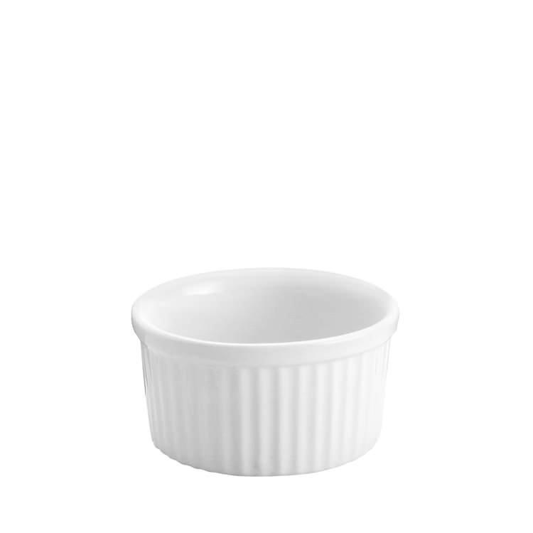 Tomkin Vitroceram Souffle Dish White 90mm