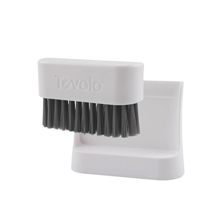 Tovolo Countertop Brush & Dustpan White & Grey