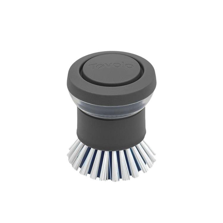 Tovolo Twist 'N' Scrub Soap Dispensing Palm Brush Grey