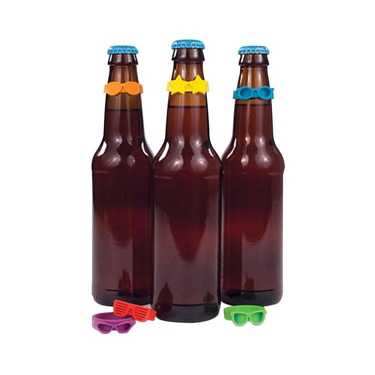 True Beernoculars Bottleneck Markers Set of 6 Asssorted