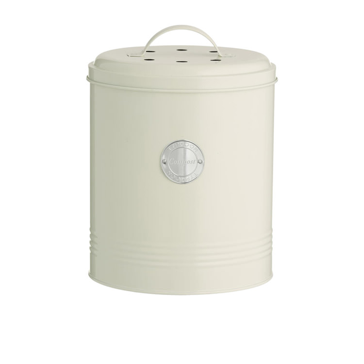 Typhoon Living Compost Caddy 2.5L Cream