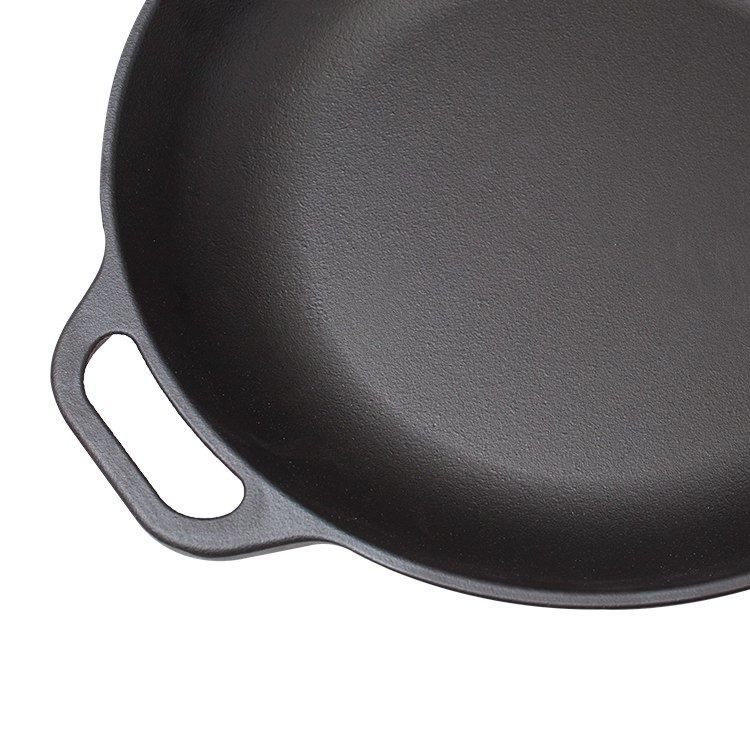Victoria Seasoned Cast Iron Open Chef's Pan 33cm