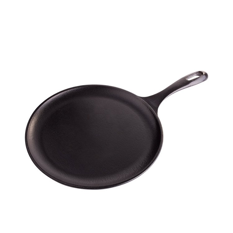 Victoria Seasoned Cast Iron Round Griddle Pan 26cm