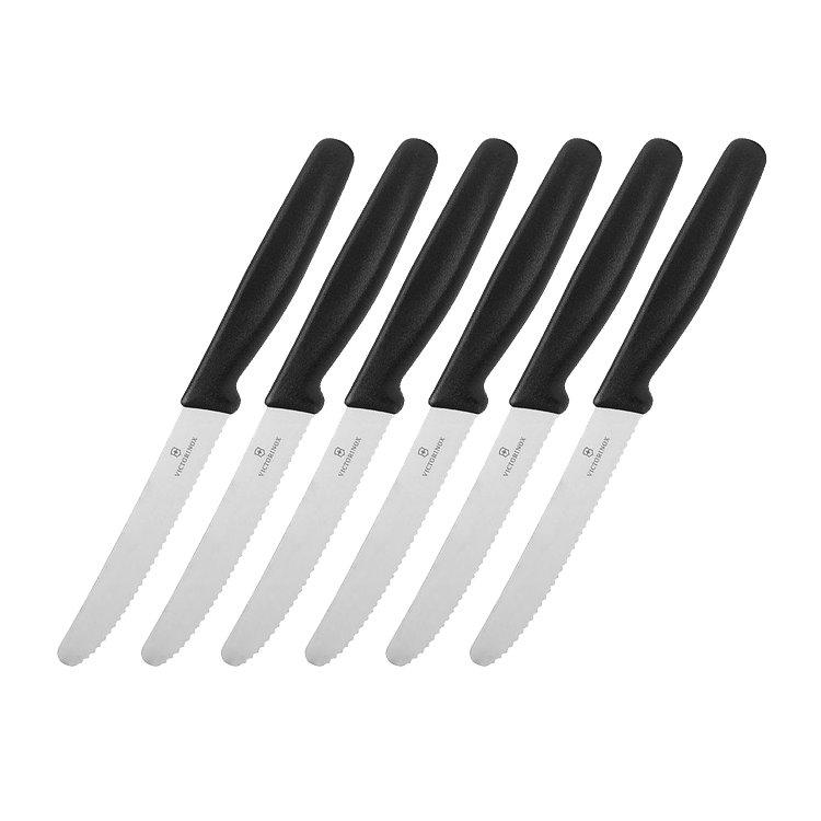 Victorinox 6pc Steak Knife Set Black