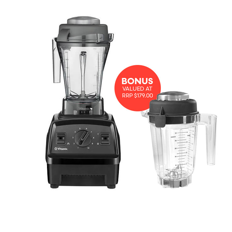 Vitamix Explorian Series E310 Blender Black get Bonus Dry Jug 900ml