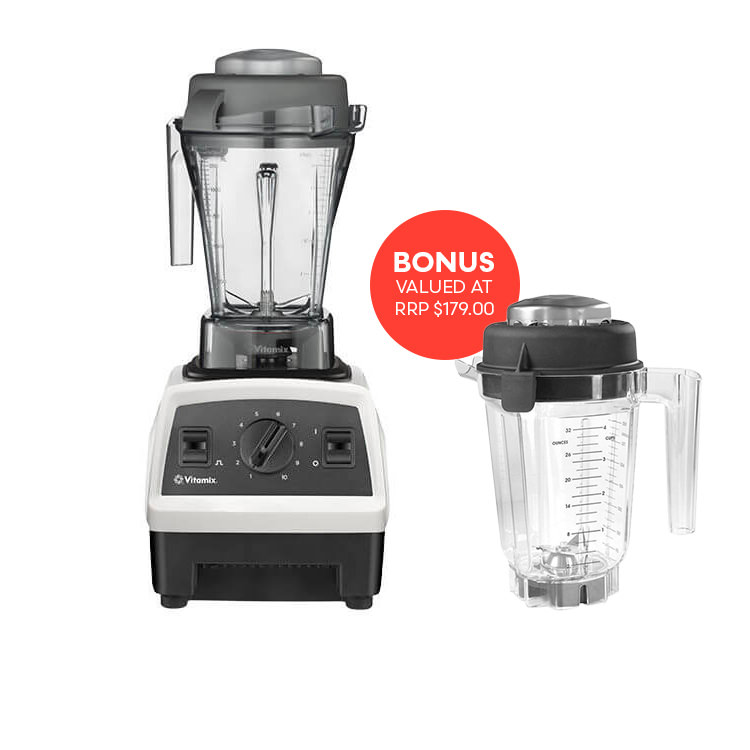 Vitamix Explorian Series E310 Blender White get Bonus Dry Jug 900ml