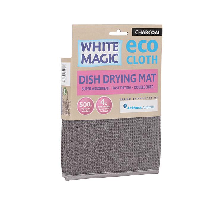 White Magic Eco Cloth Dish Drying Mat Charcoal image #3