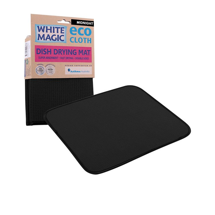 White Magic Eco Cloth Dish Drying Mat Midnight