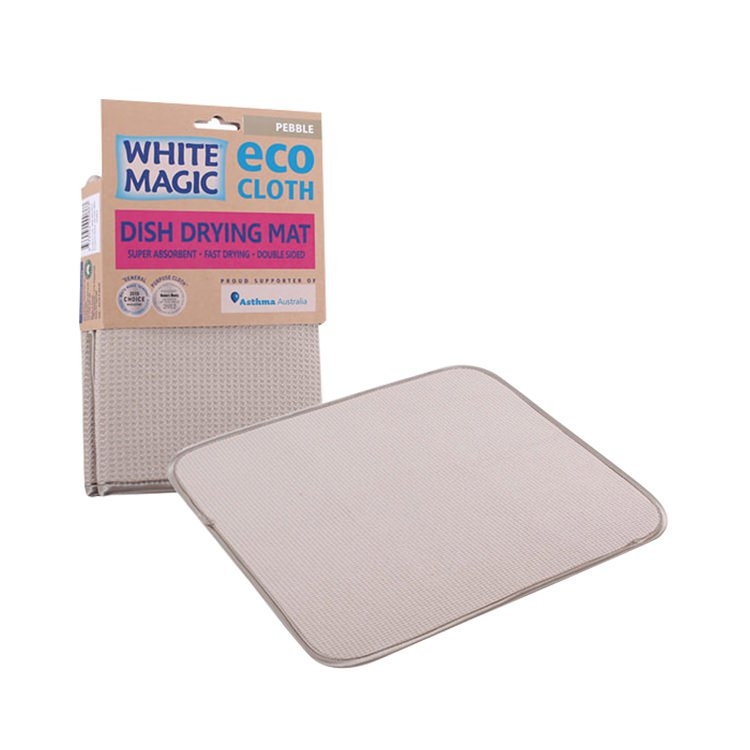 White Magic Eco Cloth Dish Drying Mat Pebble