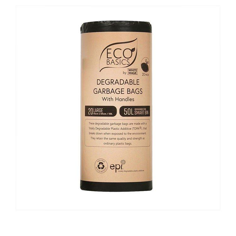 White Magic Eco Basics Degradable Garbage Bags Large 20 Pack