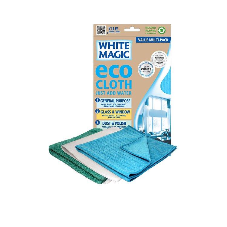 White Magic Eco Cloth Household 3pk Assorted