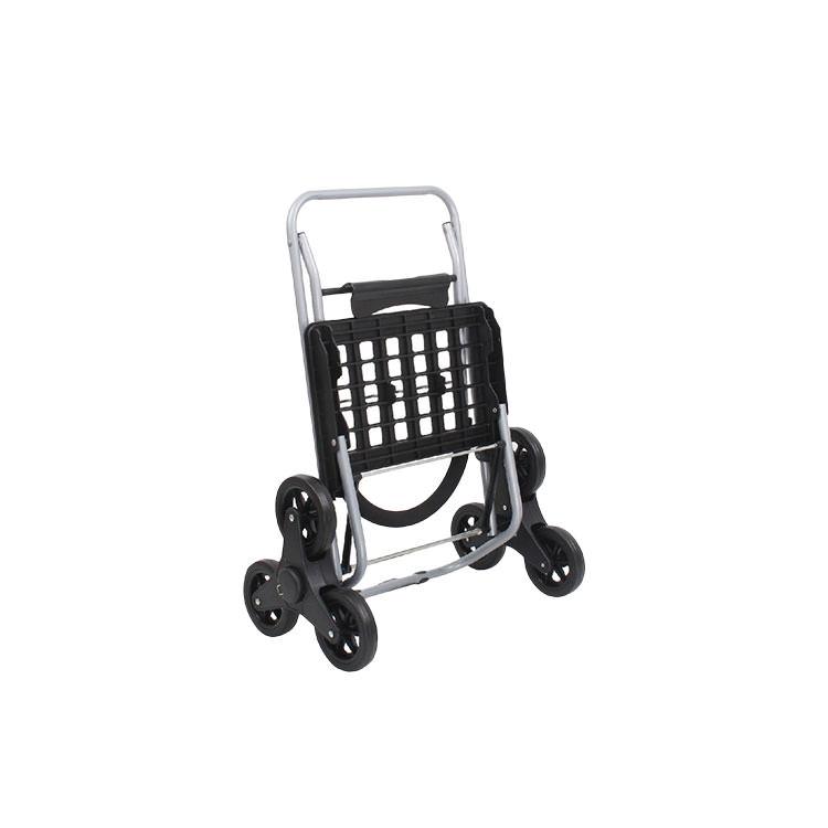 White Magic Handy Trolley with Climbing Wheels Black