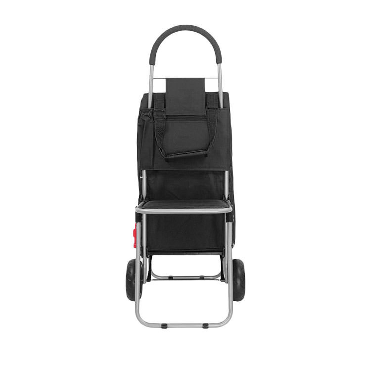 White Magic Handy Trolley with Seat Black