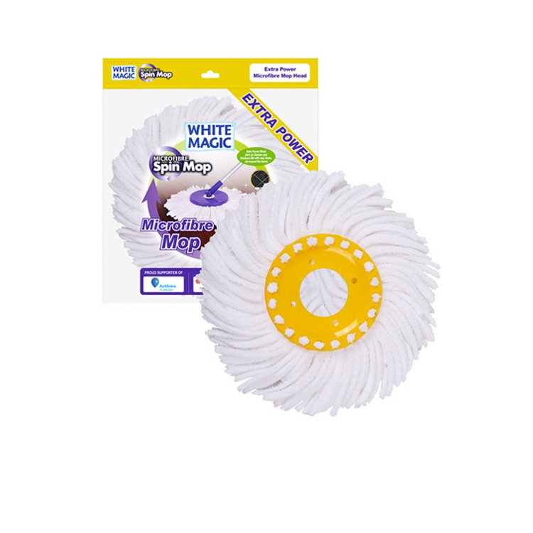 White Magic Extra Power Microfibre Mop Head