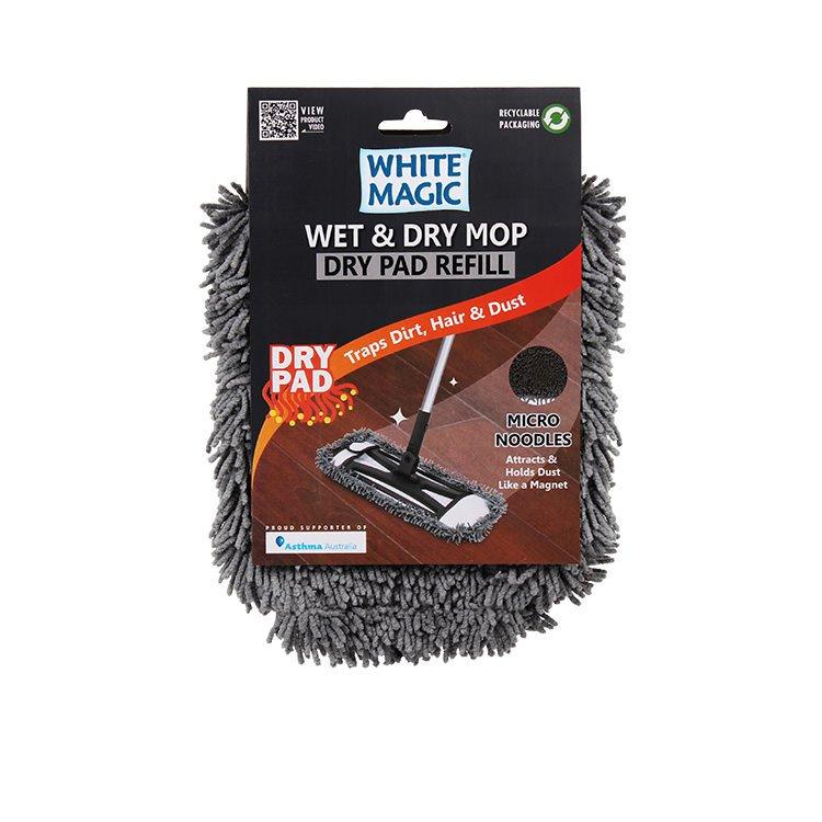 White Magic Wet & Dry Mop Dry Pad Refill