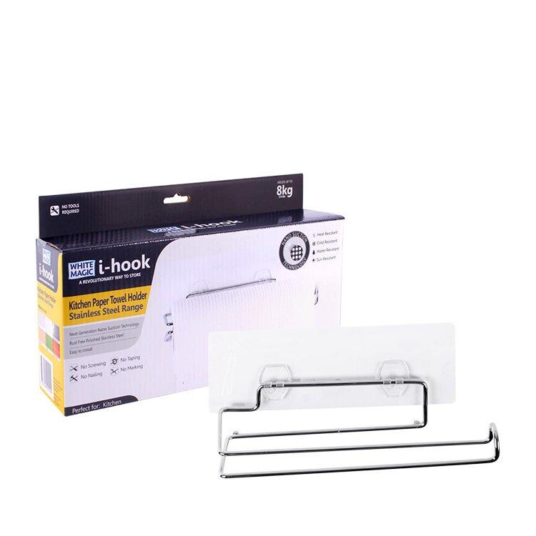 White Magic i-hook Kitchen Paper Towel Holder