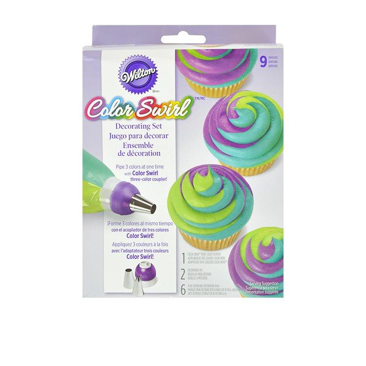 Wilton Colour Swirl 3 Colour Coupler Decorating Set 9pc