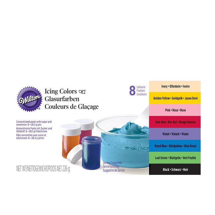 Wilton Icing Colour Set 8pc - Fast Shipping