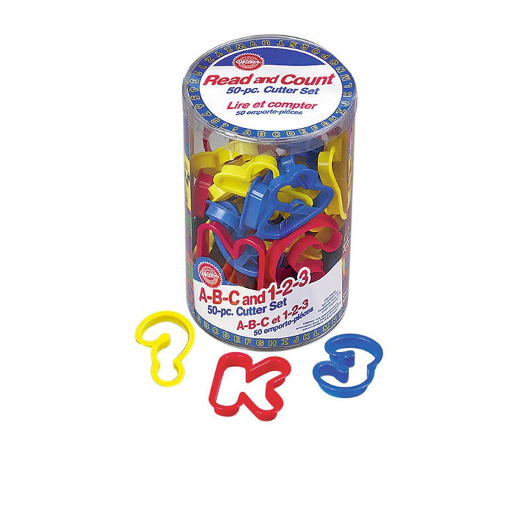 Wilton Numbers & Alphabet Cookie Cutter Set 50pc