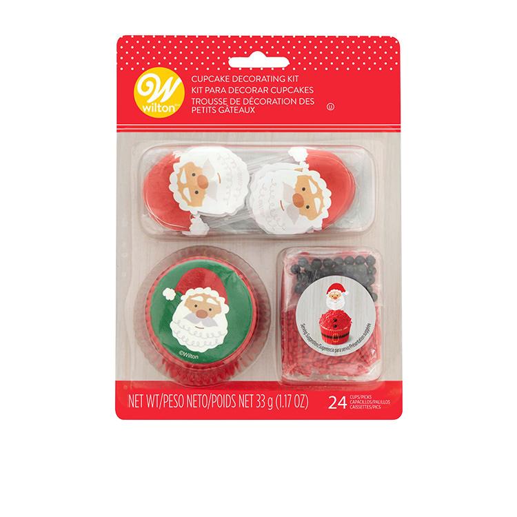 Wilton Santa Cupcake Decorating Kit Set of 24