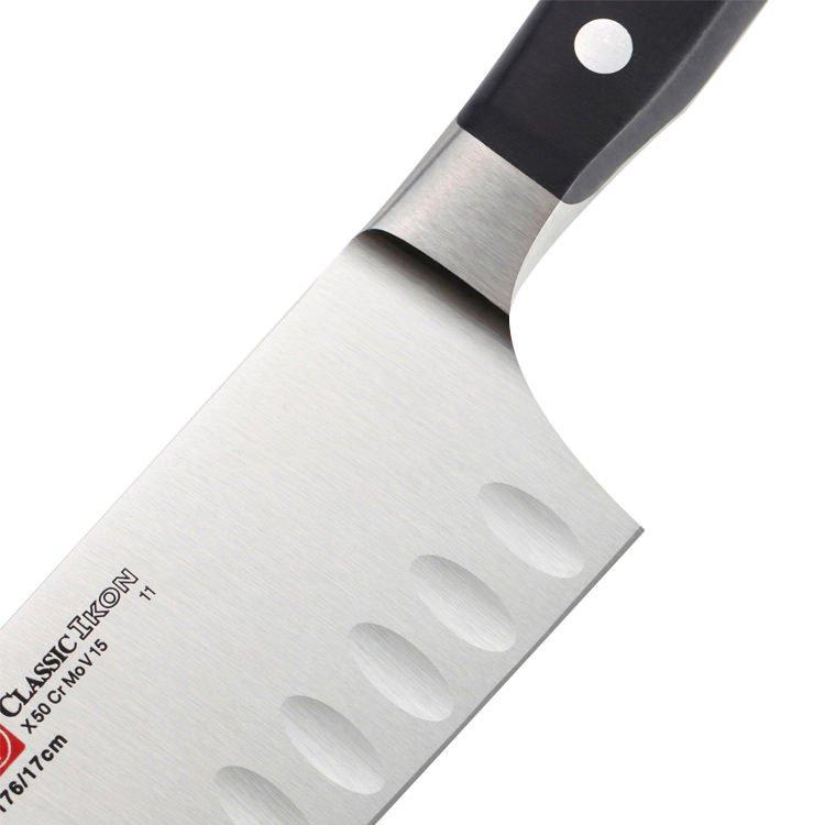 Wusthof Classic Ikon Santoku Hollow Edge Knife 17cm