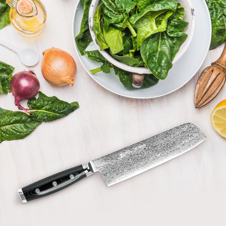 Yaxell Gou Nakiri Knife 18cm