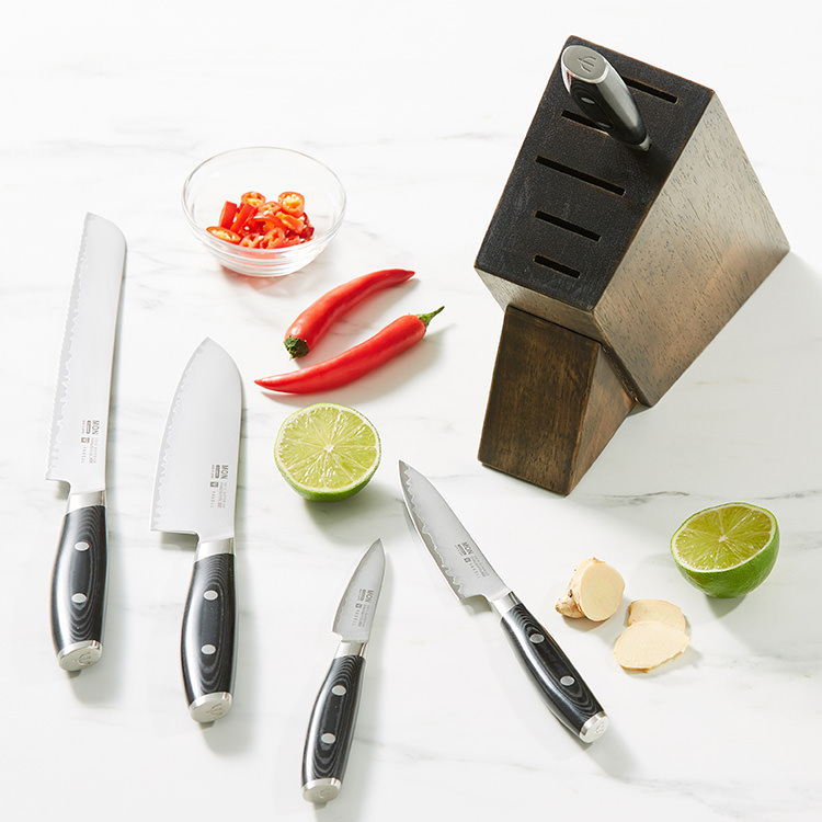 Yaxell Mon 6pc Knife Block Set