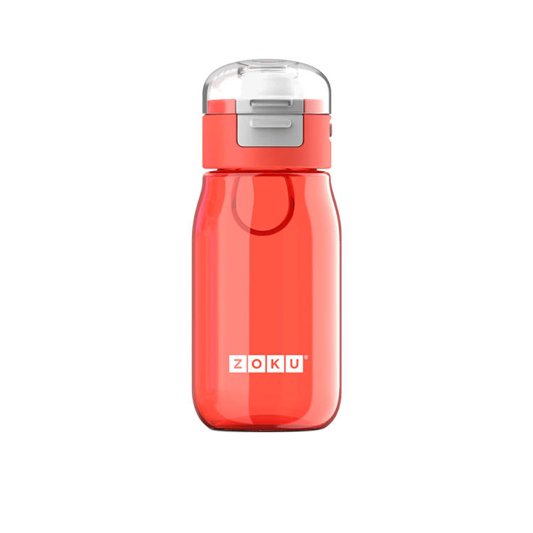 Zoku Flip Gulp Kids Bottle 475ml Red