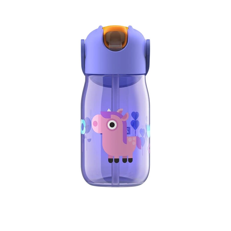 Zoku Flip Straw Kids Bottle 415ml Purple Unicorn