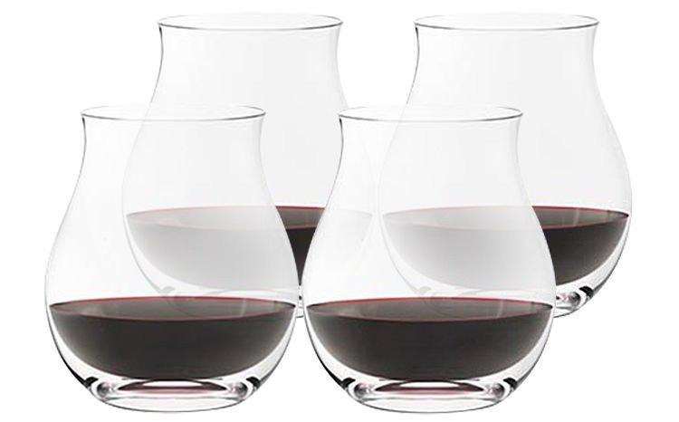 Australian Crystal Stemless Wine Glasses
